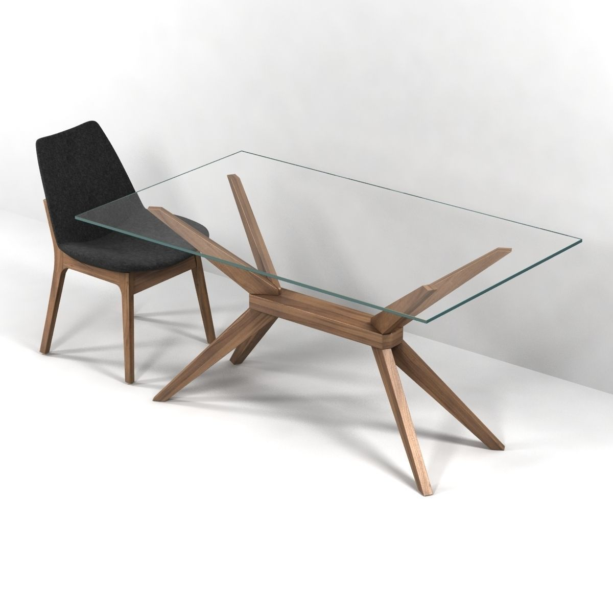 Phenomenal Magna Glass Dining Table By Inmod Sohoconcept Eiffel Wood Chair 3D Model Dailytribune Chair Design For Home Dailytribuneorg