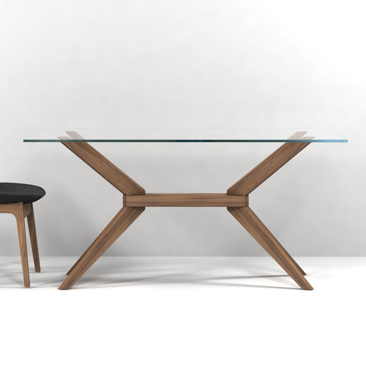 Magna glass dining table by inmod sohoconcept eiffel wood for New model wooden dining table
