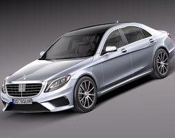 Mercedes-Benz S-class- 2014 3D Model