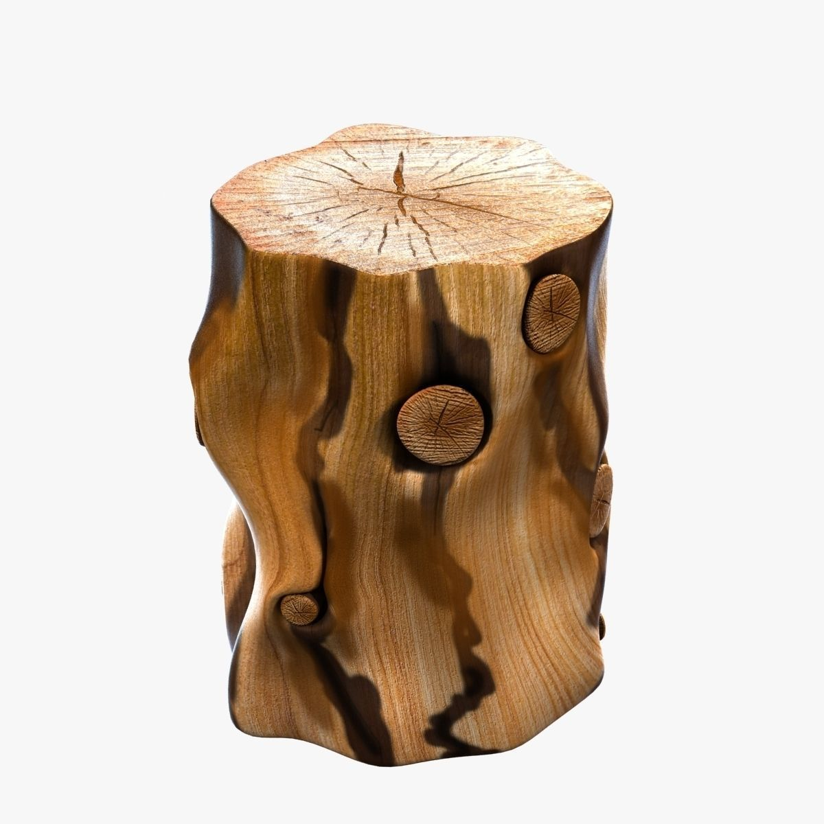 Beau ... West Elm Natural Tree Stump Side Table 3d Model Max Obj Mtl 3ds Fbx  Unitypackage Prefab ...