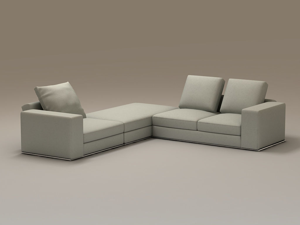 Beautifully stylish family furniture desig 3d model for Minimalist sofa