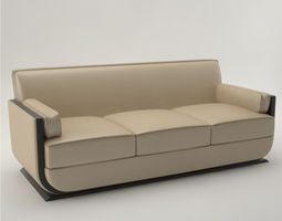 Pro - Art Deco Sofa 1930 3D model