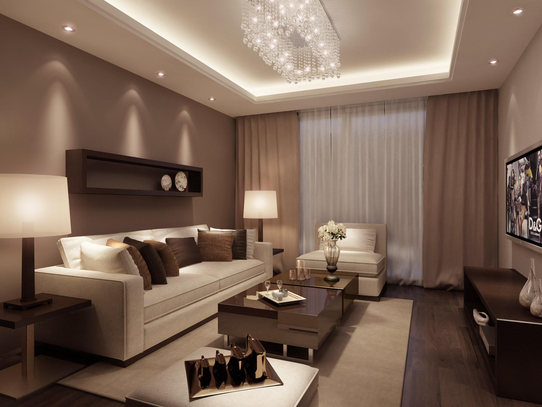 Дизайн интерьера обоев в зале
