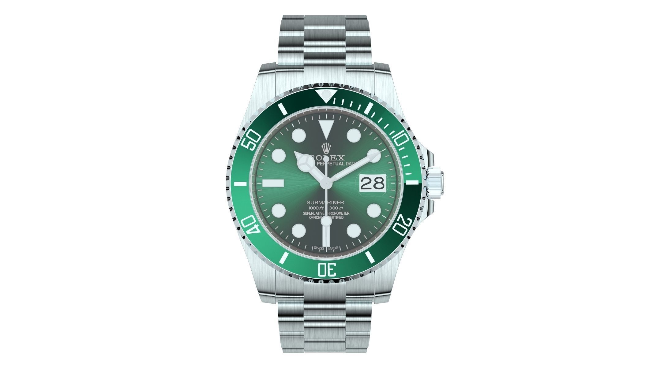 Rolex Submariner Date Oystersteel Green Plate