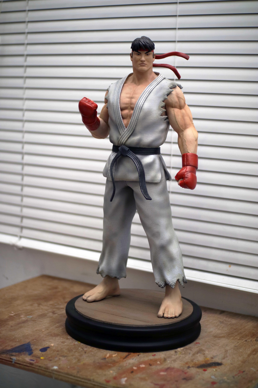 Ryu Street Fighter Fan-art Statue