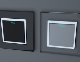 retrotouch rts2005 mechanical light switch 1 gang 3d model