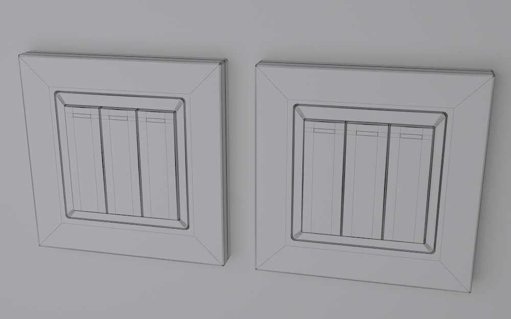 retrotouch rts2005 mechanical light switch    3d model  max  obj