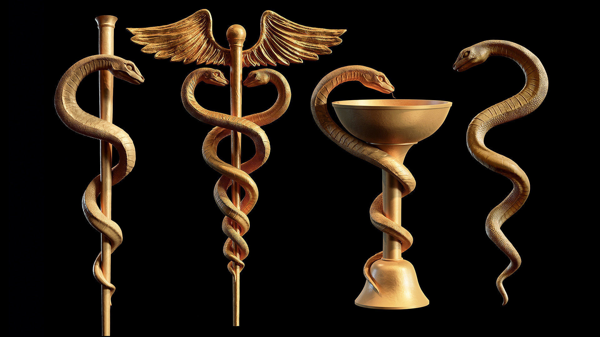 Medical symbol 4 models collection