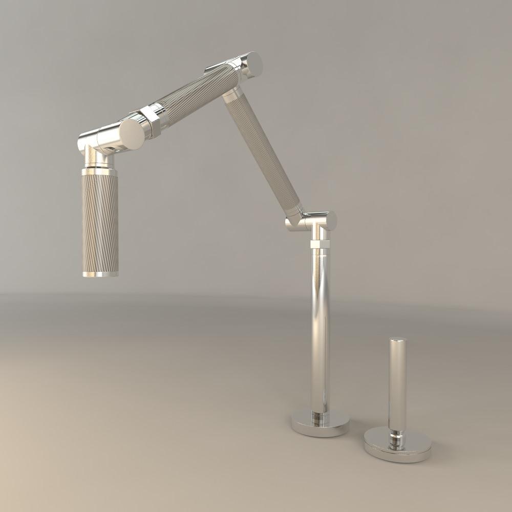 kohler karbon kitchen sink faucet 3d model max obj fbx