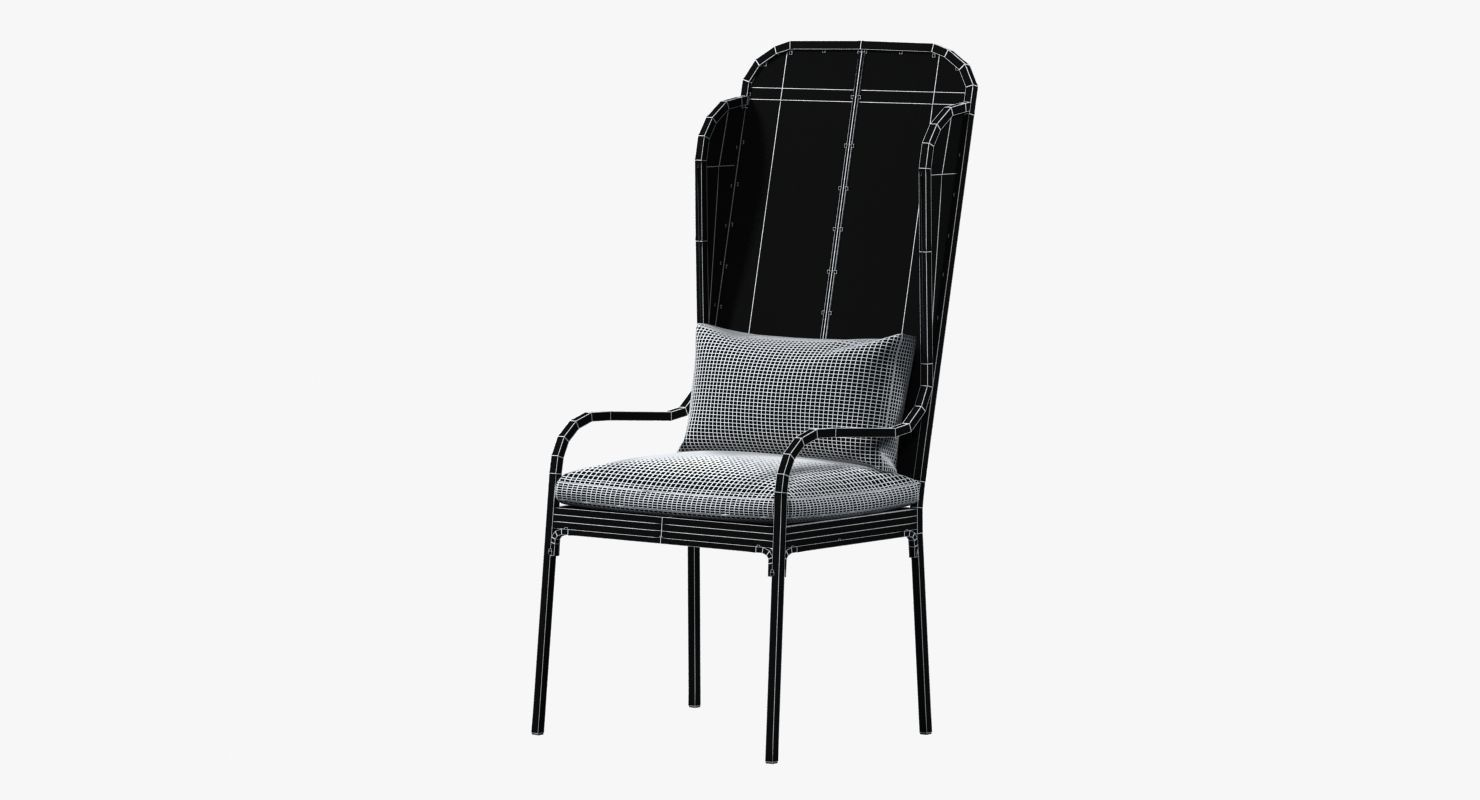 Beau ... Restoration Hardware Iron Wingback Chair 3d Model Max Obj Mtl 3ds Fbx 8  ...