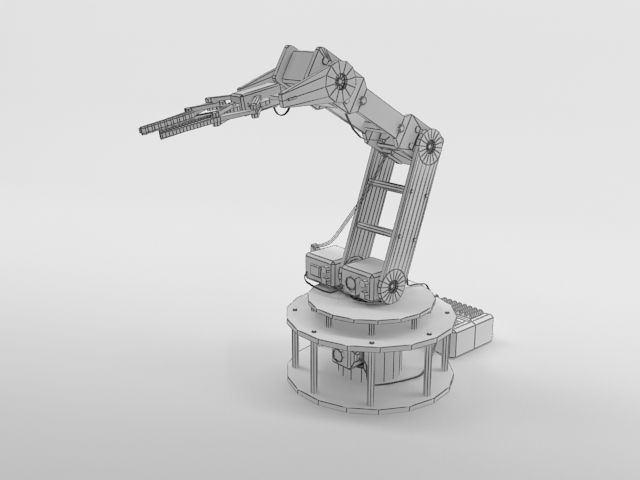 Armbot Robotic Arm 3d Model Max Obj 3ds C4d Cgtrader Com