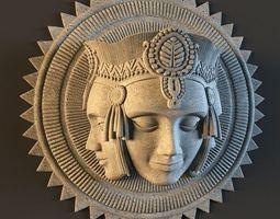 bas Brahma decor plaster molding 3D