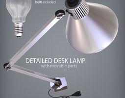 Detailed Desk Lamp 3D