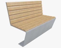 Outdoor Bench-10 3D model