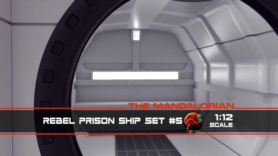 The Mandalorian - Rebel Prison Ship 5 - Cell Interior 1-12 scale