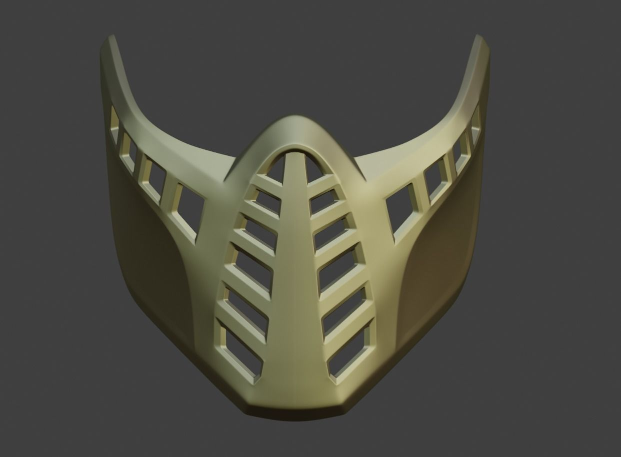 3d Print Model Scorpion And Sub Zero Classic Ninja Mask 6
