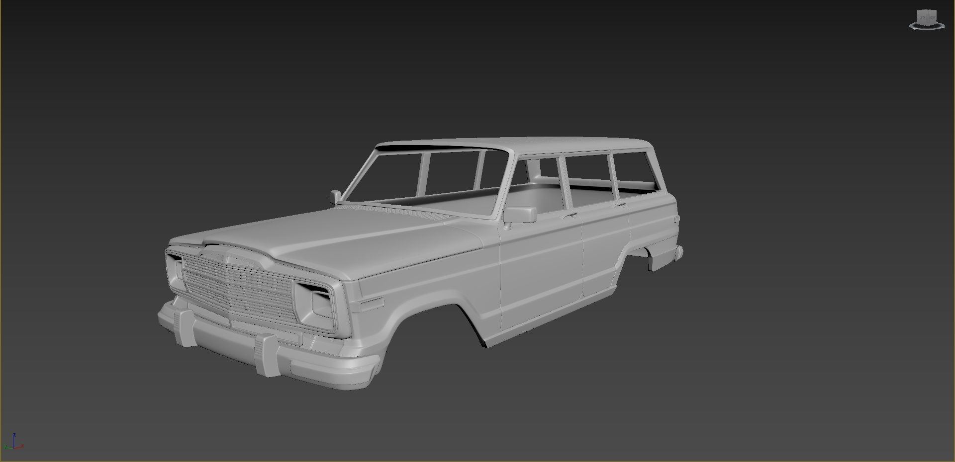 Jeep Grand Wagoneer 1991 Body For Print