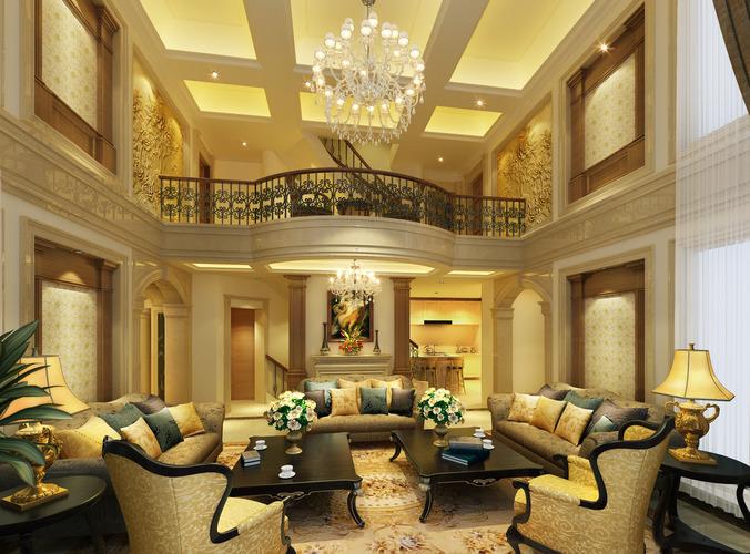 astounding 3d luxury living rooms | 3D model chair Luxury living room | CGTrader