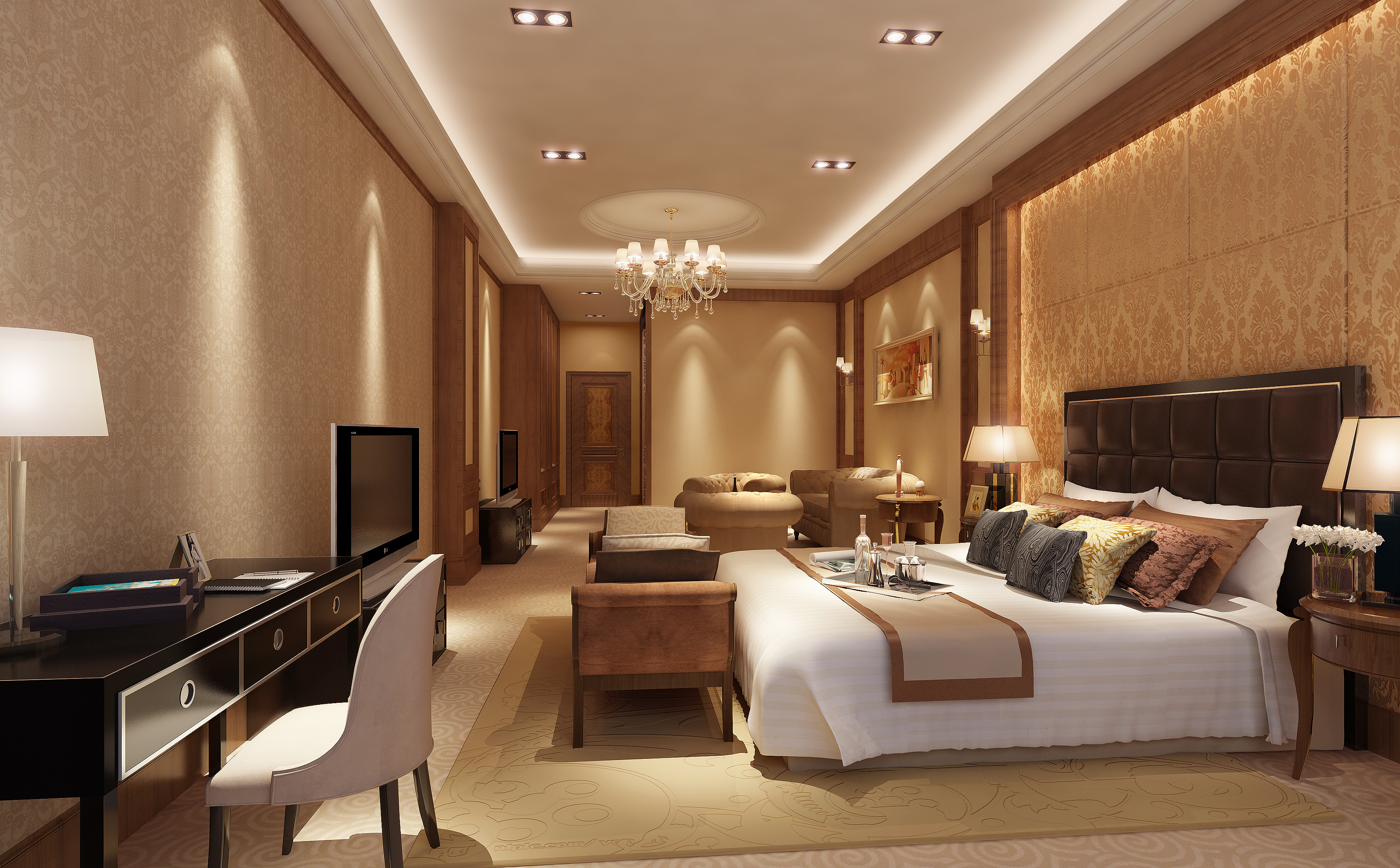 Huge bedroom 3d model max Huge master bedroom ideas