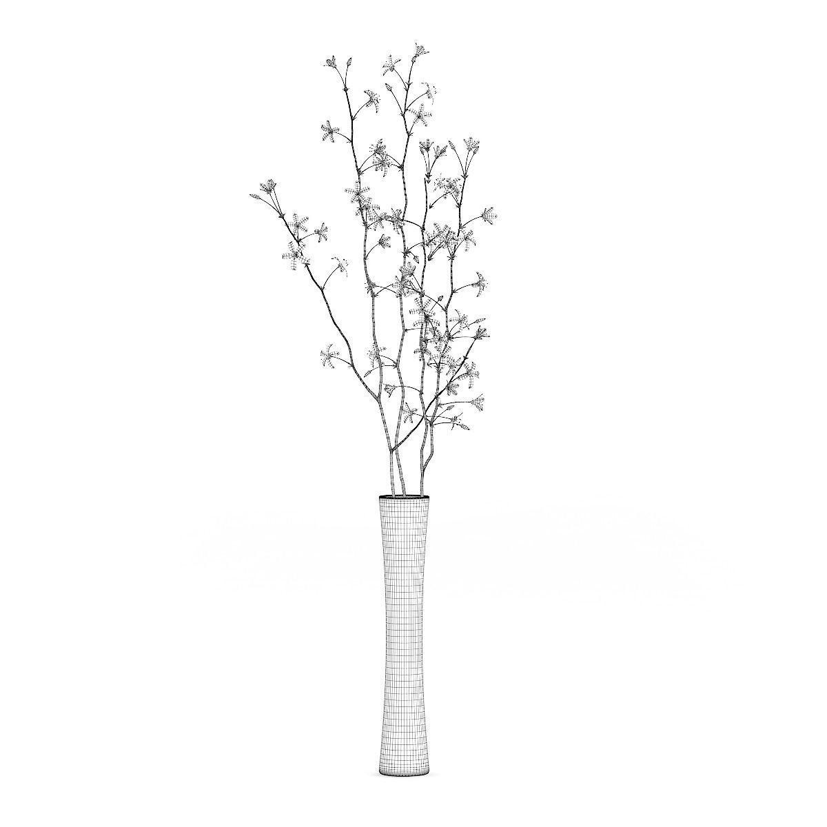 Flowering tree twigs in glass vase 3d cgtrader flowering tree twigs in glass vase 3d model max obj fbx c4d mtl 4 reviewsmspy