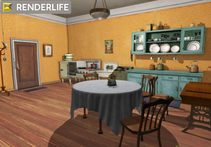 Vintage kitchen3D model