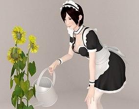 Rina maid pose 05 3D model