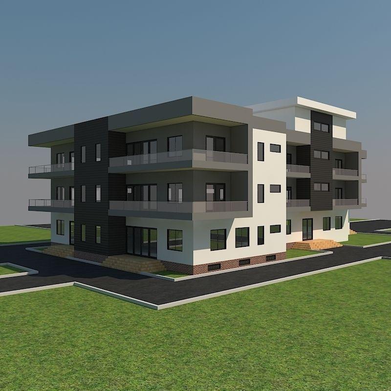 House 11 free 3d model max obj 3ds fbx for 3d max house model