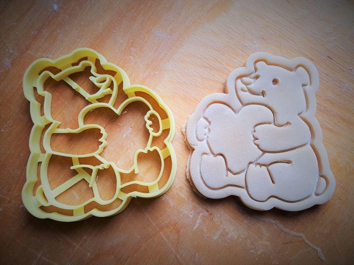 Teddy bear cookie cutter v3