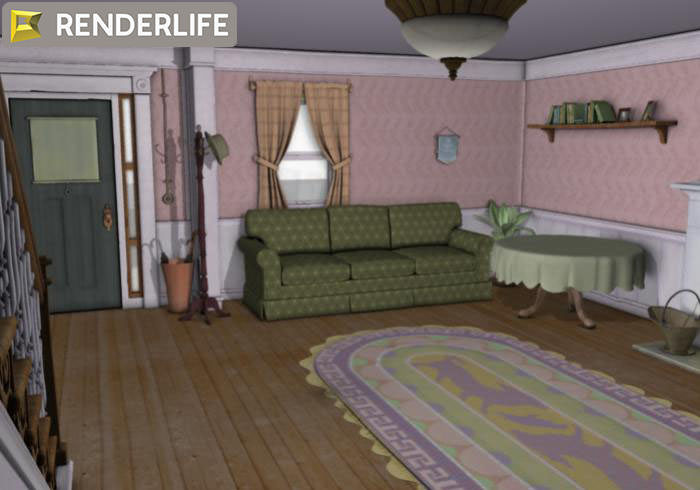 Old farmhouse living room 3D | CGTrader