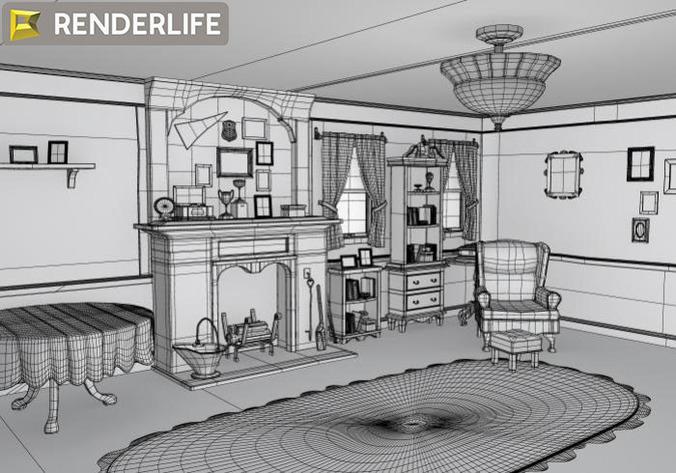 Old Living Room Fbx
