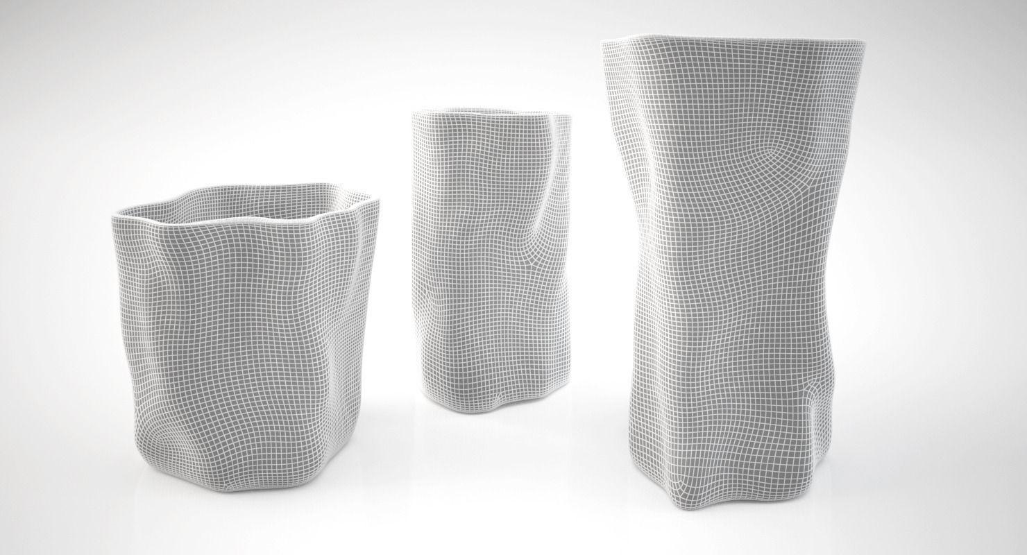 Silver Vases 3D Silver Vasesargenesi Vesta Series  Cgtrader