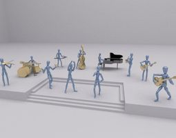 toys music group rigged realtime 3d asset