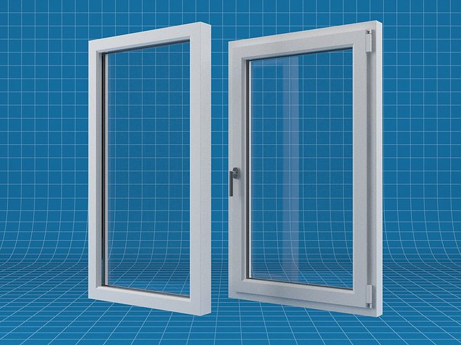 Window 3d model max obj fbx mtl for Window 3d model