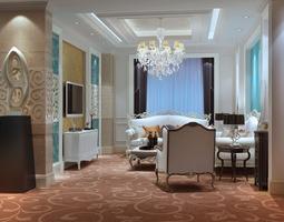 3D model Luxurious living room furniture