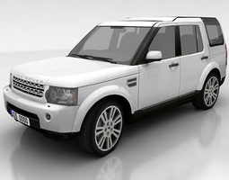 land rover discovery 4 3d asset VR / AR ready