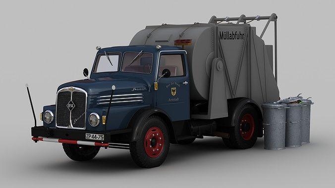 ifa s4000-1 garbage truck 3d model max stl tga 1