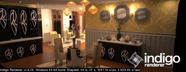 Exotic Dining Room