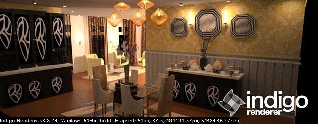 exotic dining room 3d model stl skp 1