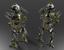 IMPERIAL GUN RoBOT V1CONCEPT FULL Layered 3D Model