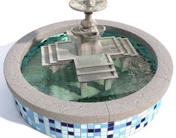 Fountain with water 3D model