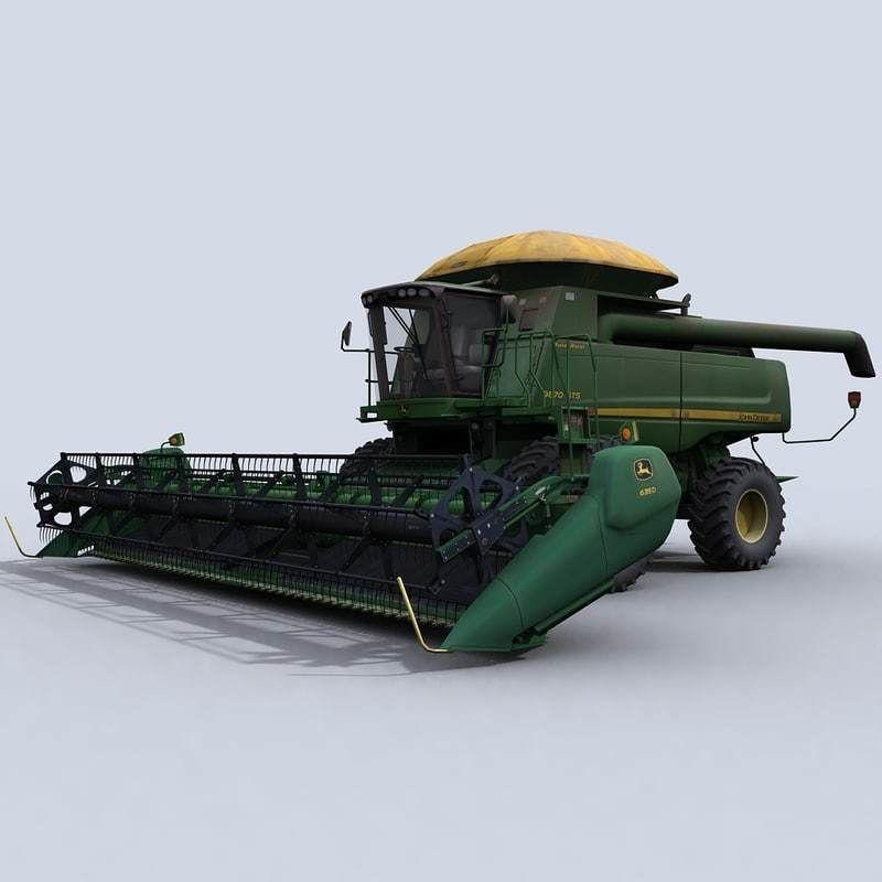 Combine Harvester 1 with Draper Platform