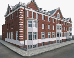 London Brick Building 3D Model