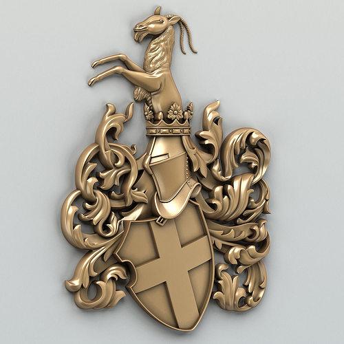 coat of arms decorative 001 3d model max obj fbx stl 1