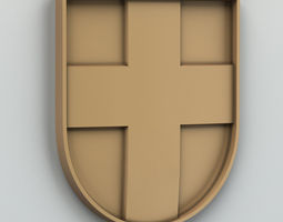 3D Coat of arms of Volyn region Ukraine