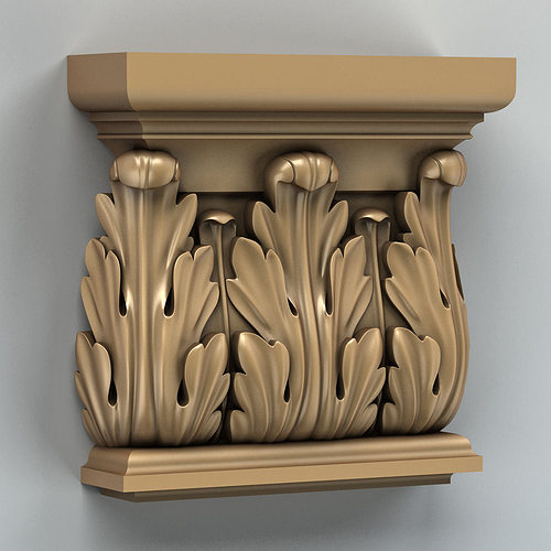 column capital 003 3d model max obj fbx stl 1
