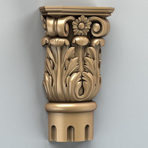 column capital 005 3d model max obj fbx stl 1