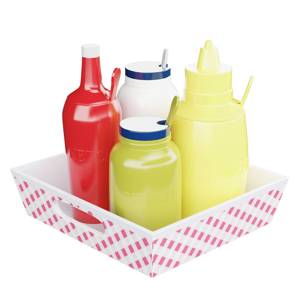 Ceramic Condiment Tray Set