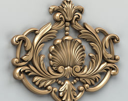 3d carved decor central 001