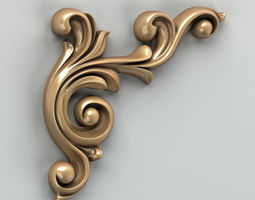 Carved decor corner 002 3D model