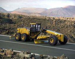 Motor Mining Grader Caterpillar 24M 3D Model